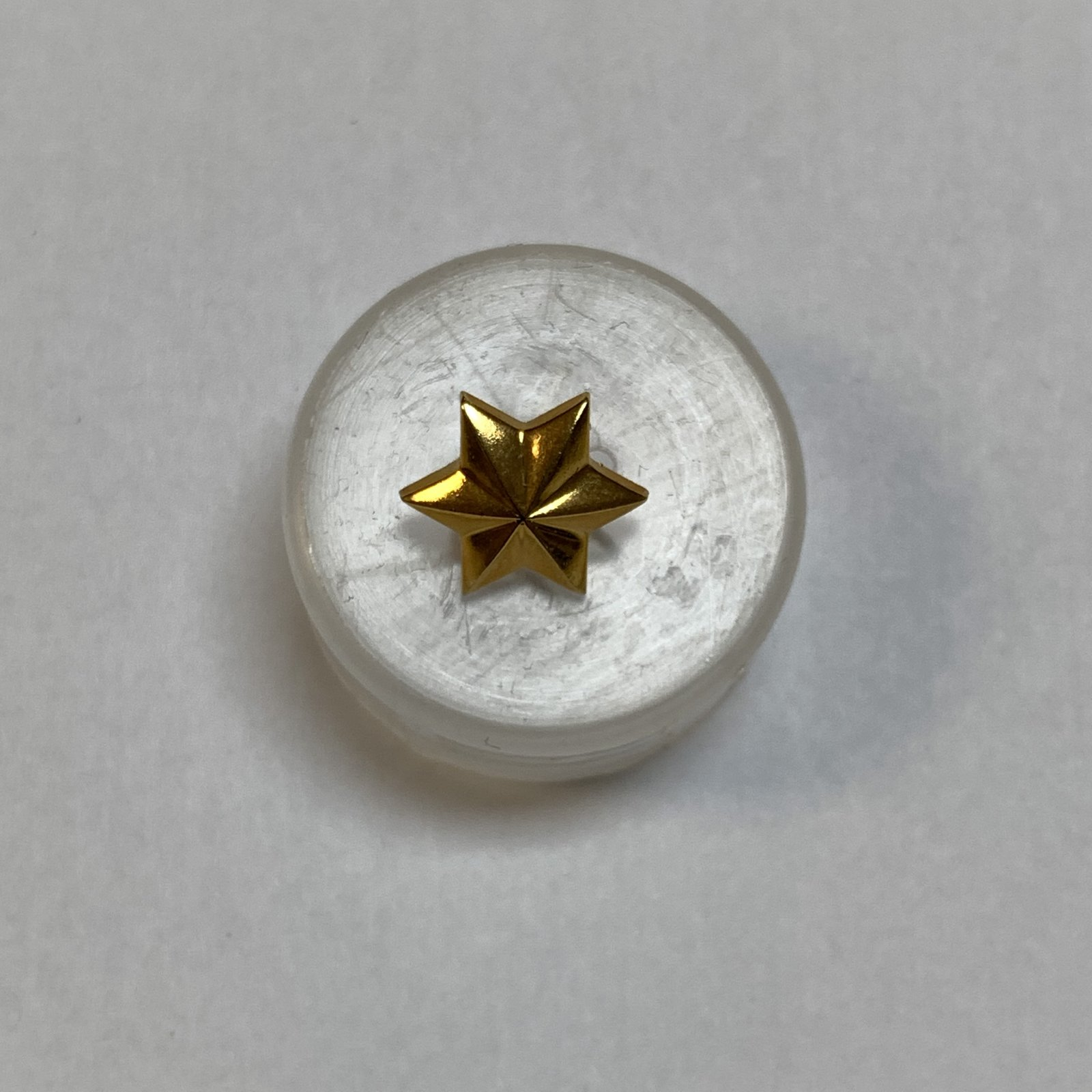 Gold Star Button 1/2 Inch