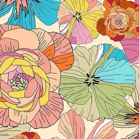 Thalia- Large Floral Cream