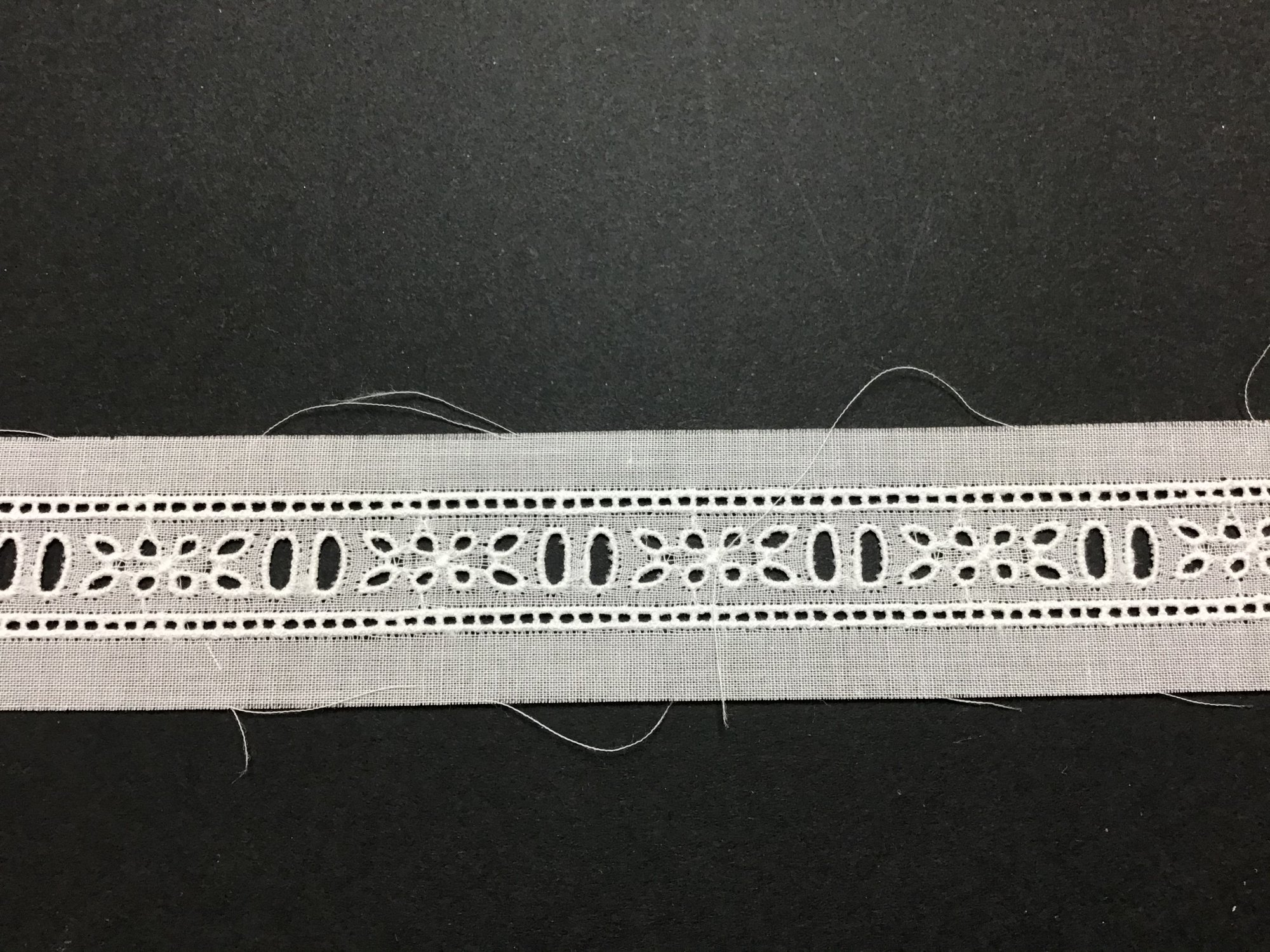 Swiss Embroidered Beading 5/8 Inch White BT769-04