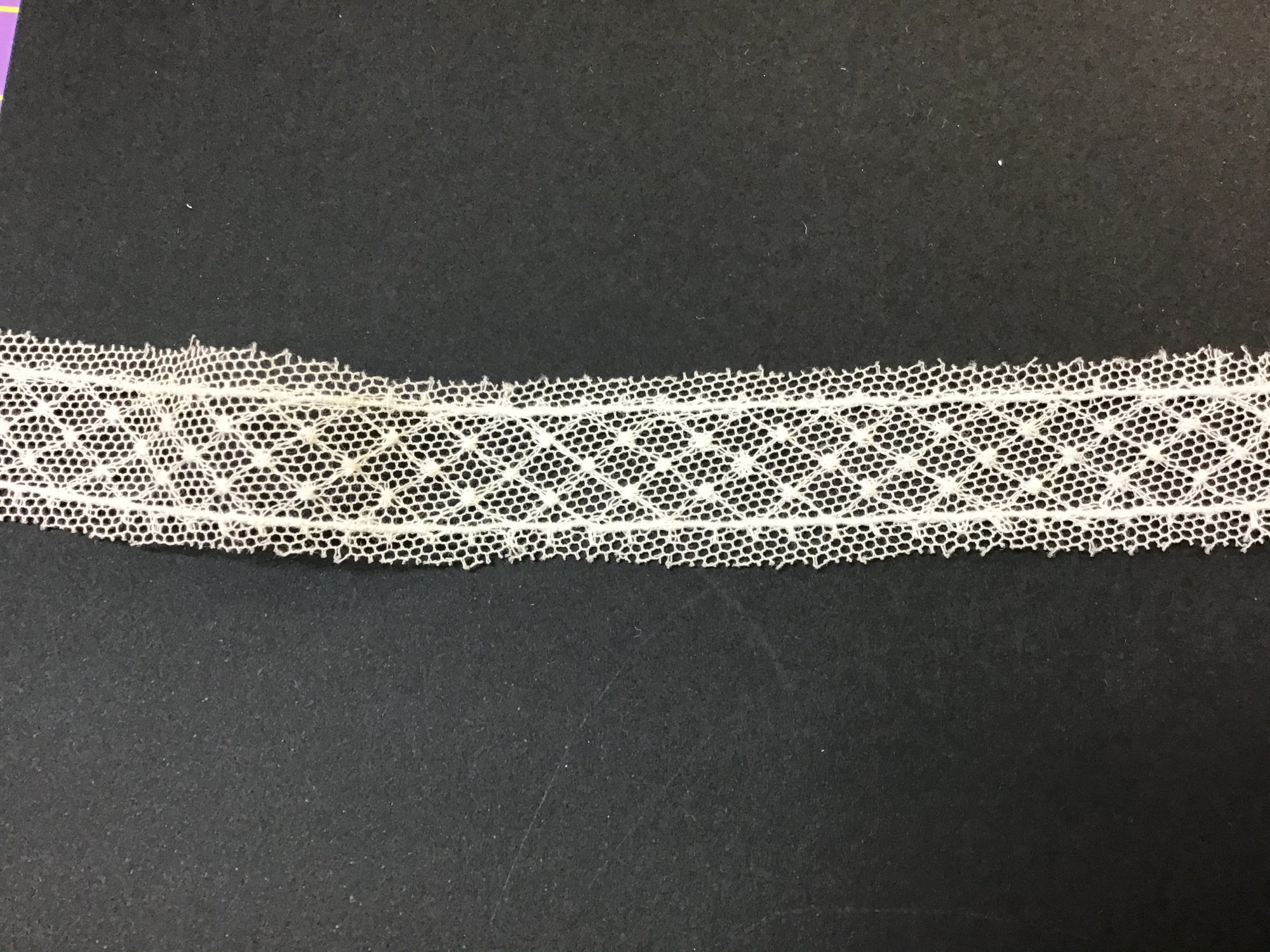 English Netting Lace Insertion Soft .5 Inch White NM14-A