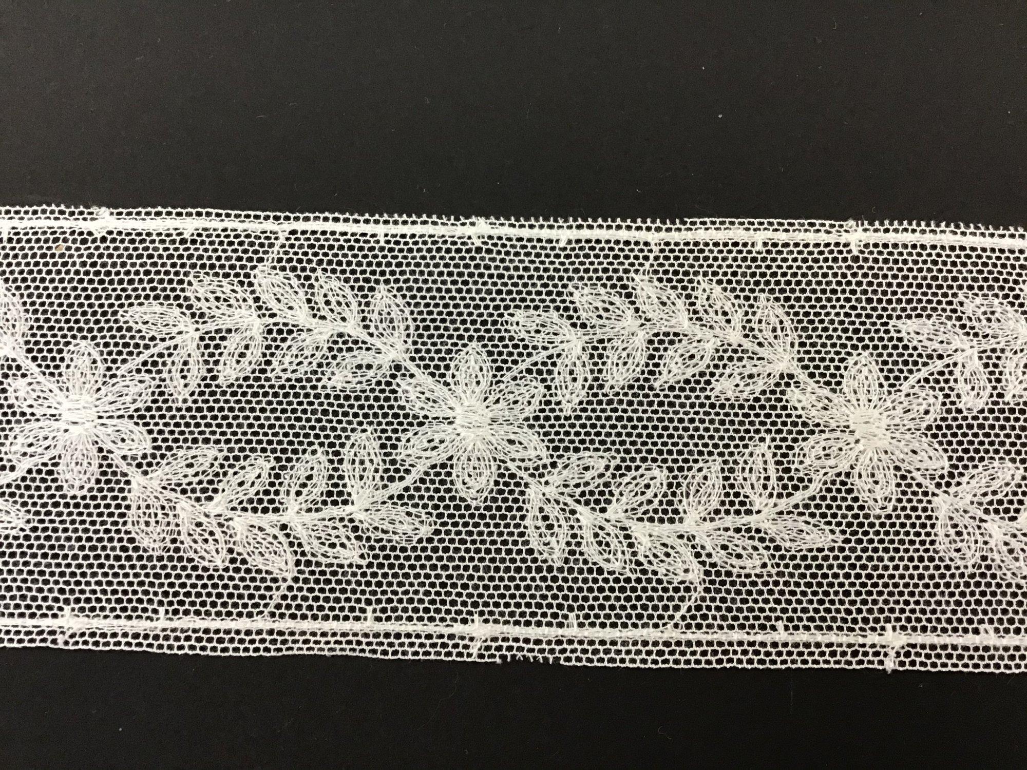 English Netting Lace Insertion 2.25 Soft White NM4259-C