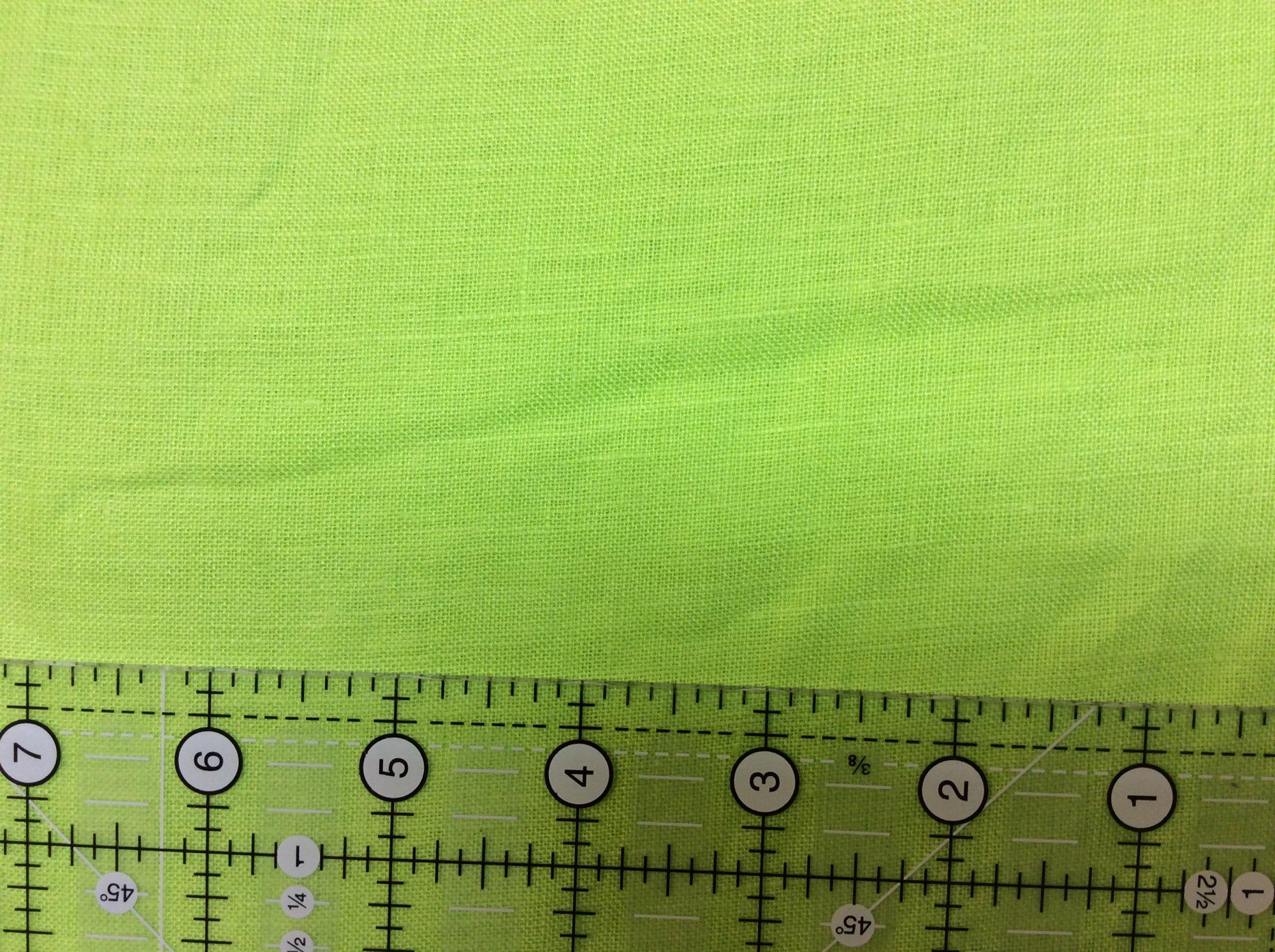 Lightweight Linen Lime Green A3924