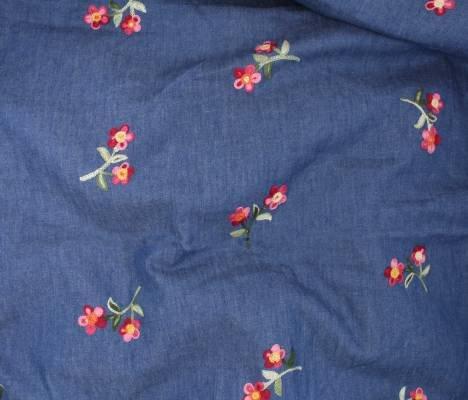 Embroidered Floral Denim 38484
