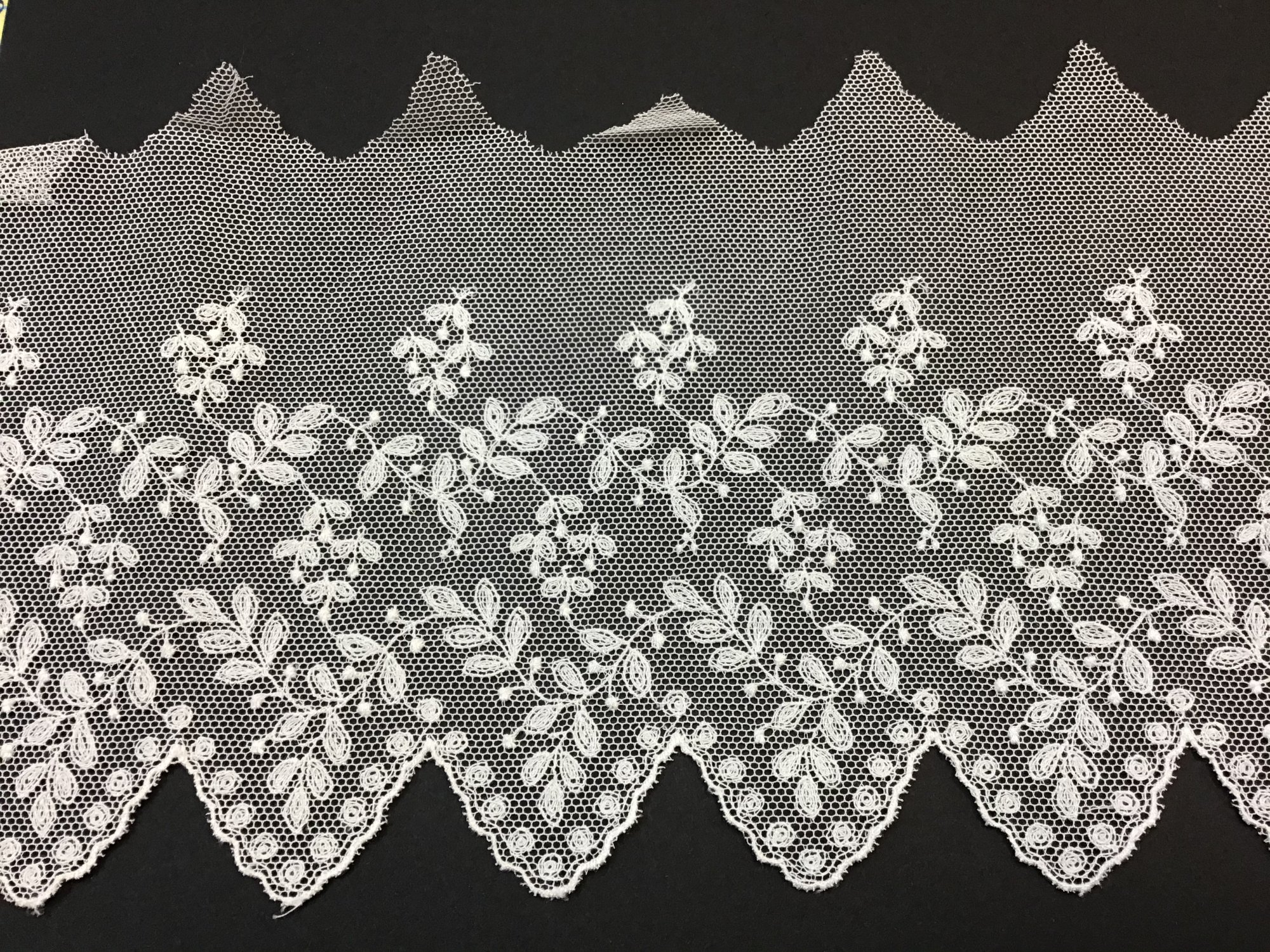 English Netting Lace Edging 4.75 Inches Soft White NM 4357-D
