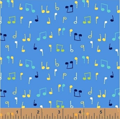 Nursery Rhymes Musical Notes Blue 42589-3