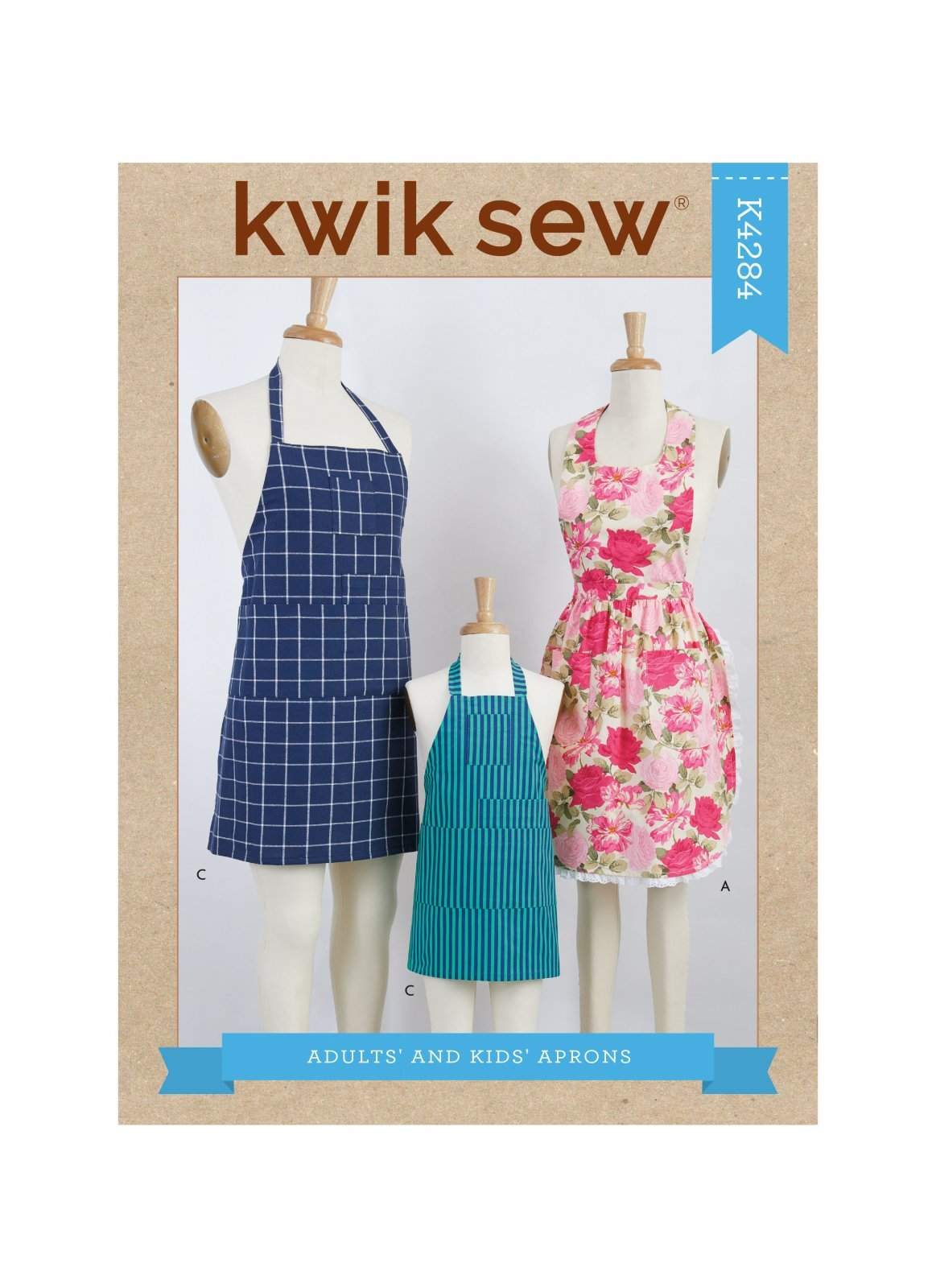 Kwik Sew K484 Adults and Kids Aprons Pattern