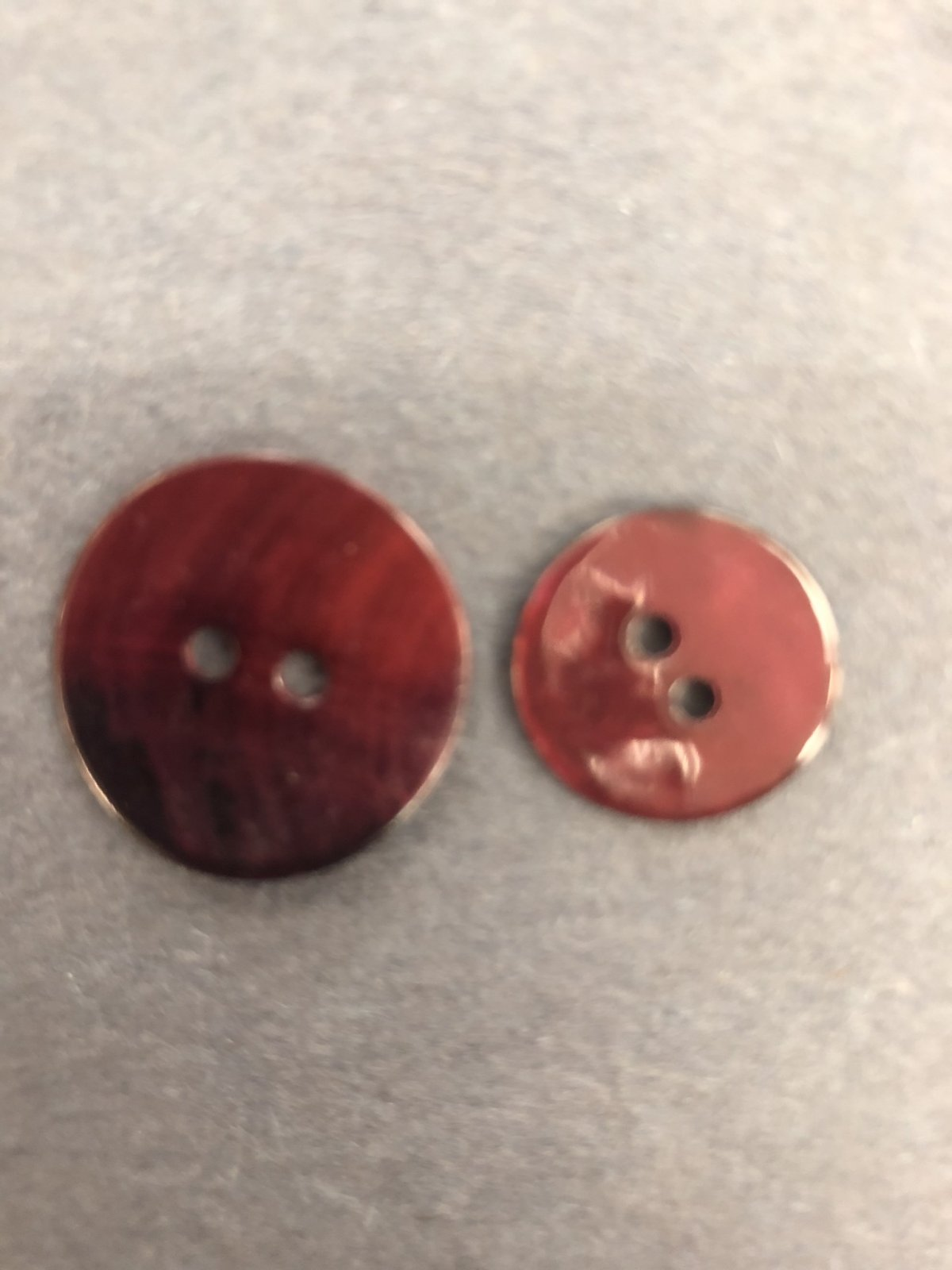 Red Dyed Shell Button