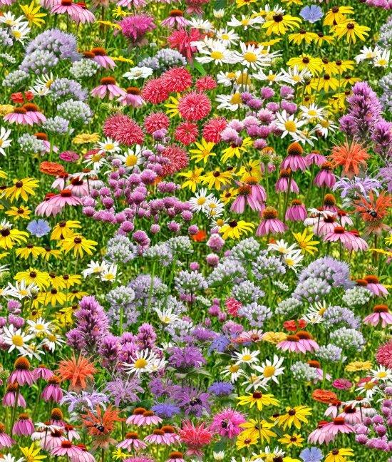 Bees & Flowers by Elizabeth's Studio 518 Multi