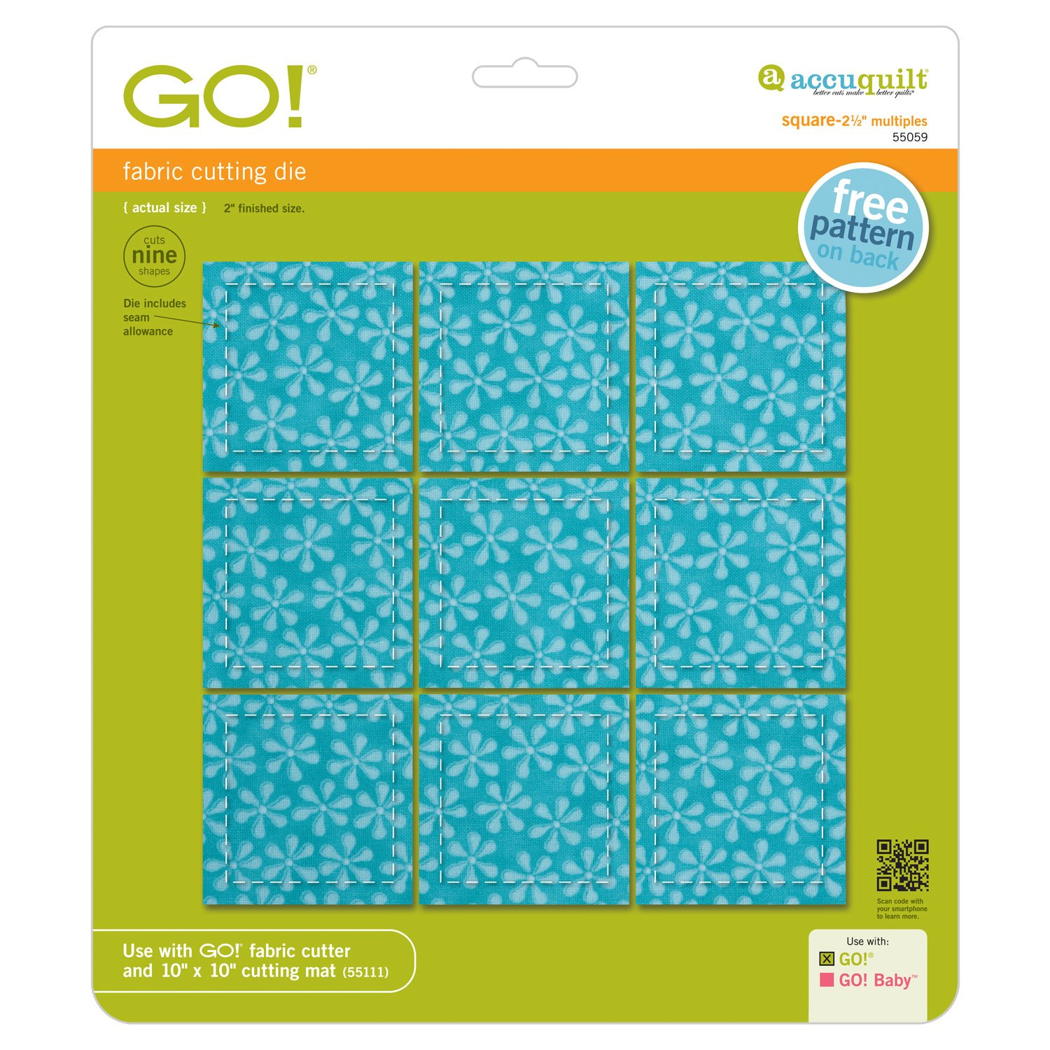 GO! Square Multiples 2.5 Inch Die 55059