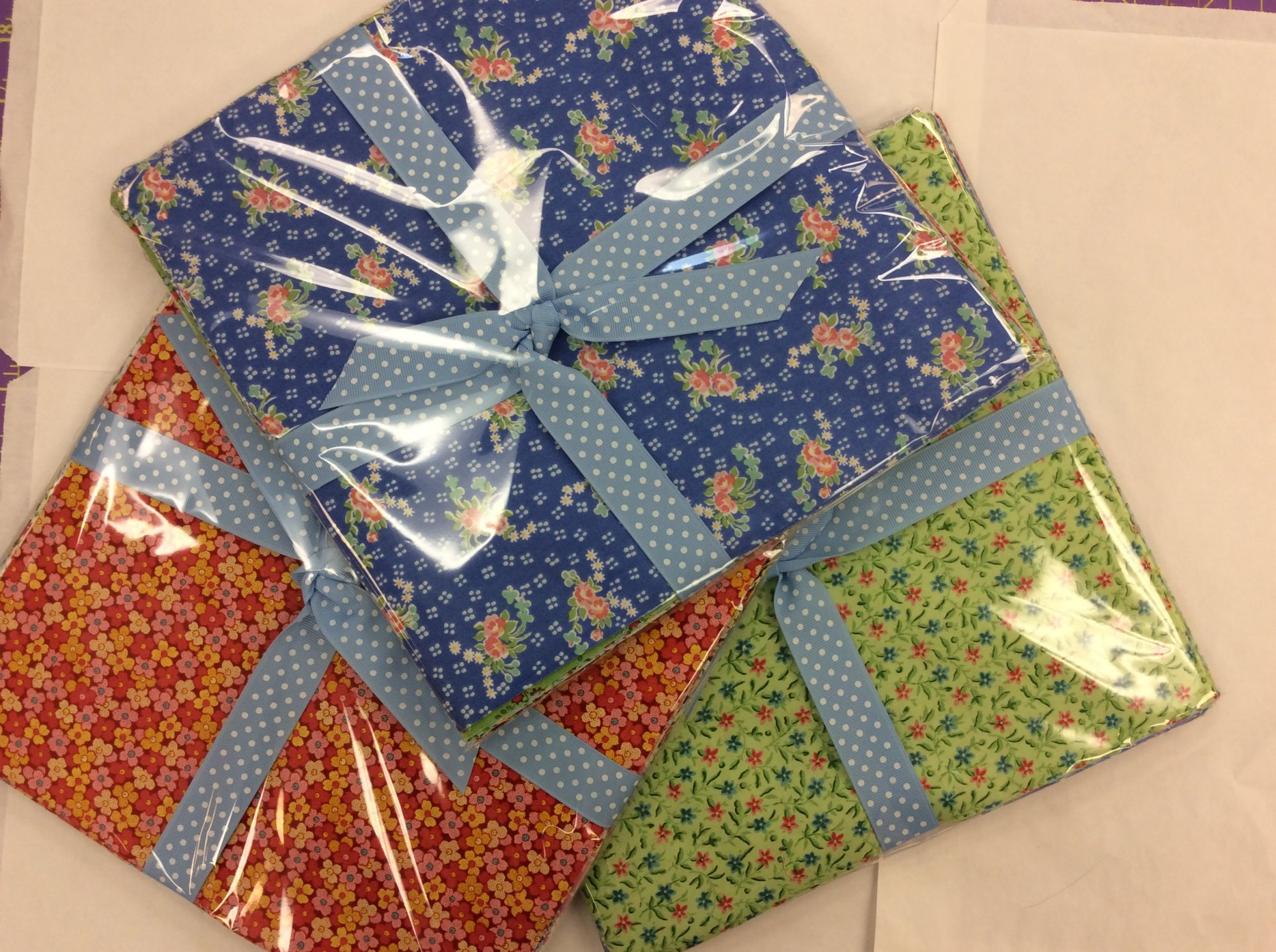 Assorted Small Floral Print 10 inch Squares