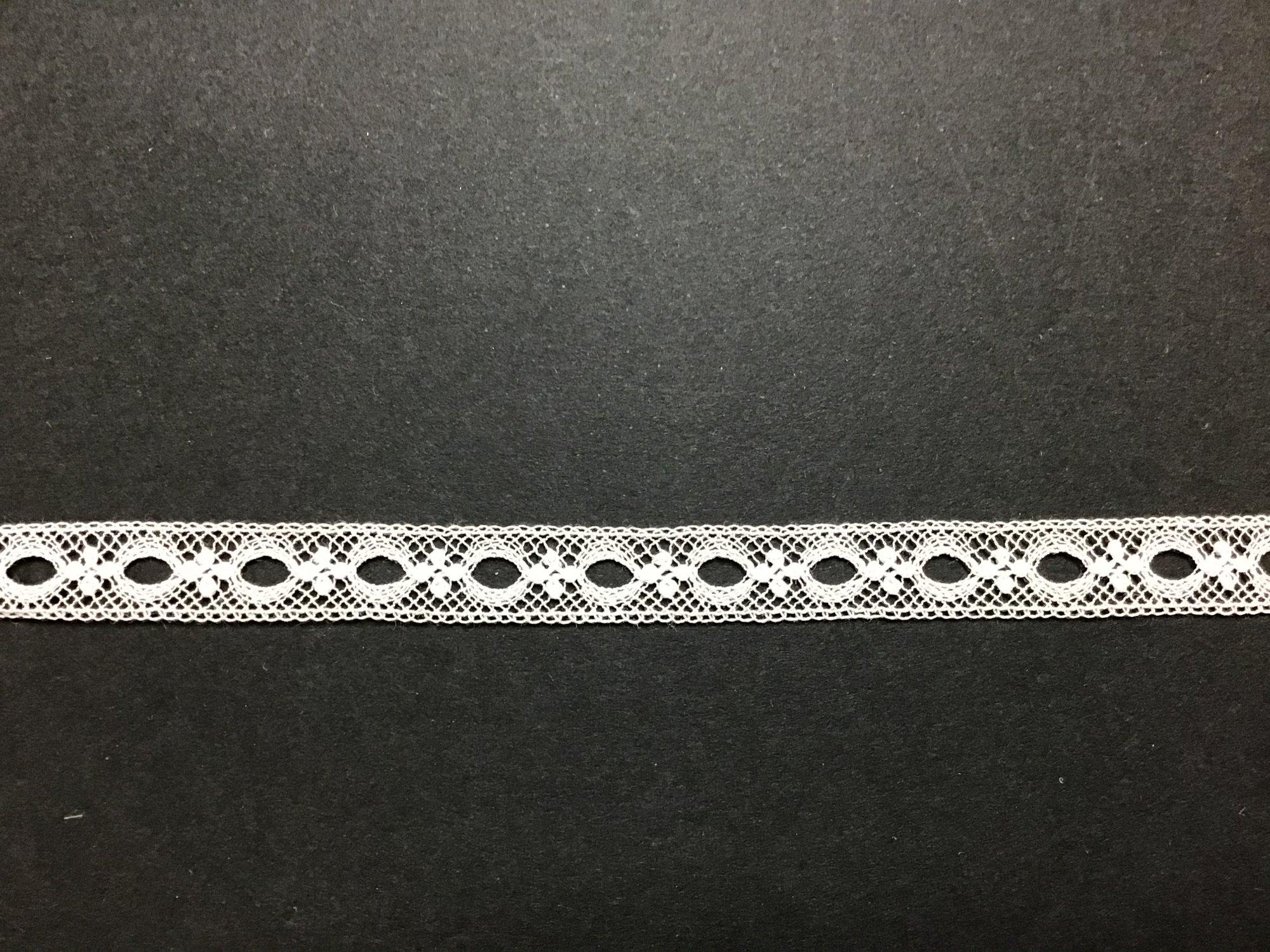 Maline Lace Beading .25 inch White 200129-04