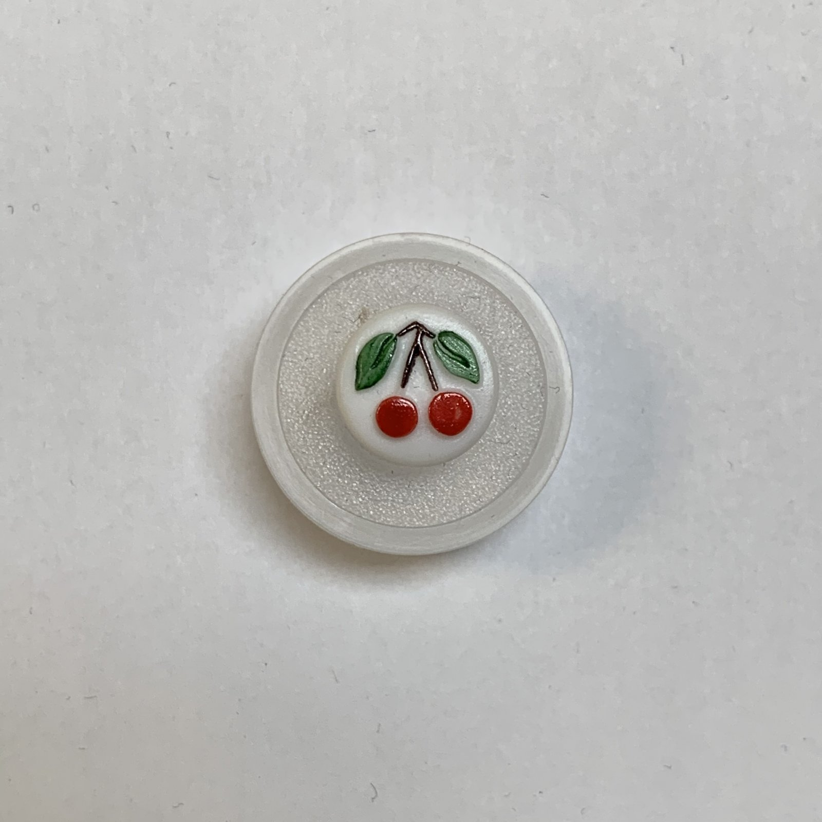 Glass Cherry Button 1/2 Inch
