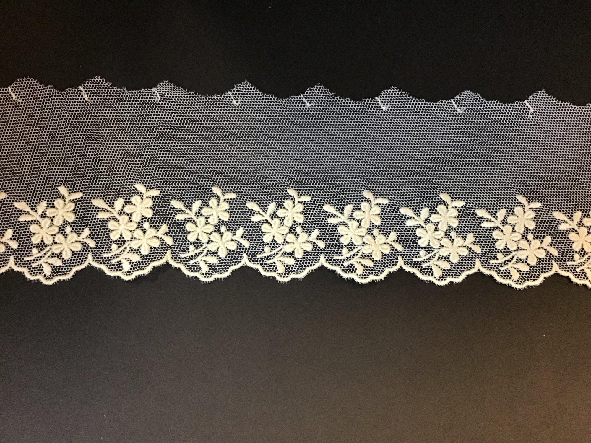English Netting Lace Edging 2.25 Inches Ecru 717438-C