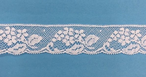 1 lace edging - white 633