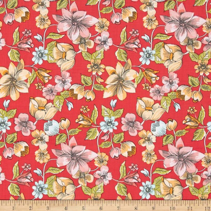 Linen and Lawn- Main Red