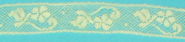 5/8 lace insertion - champagne 638C