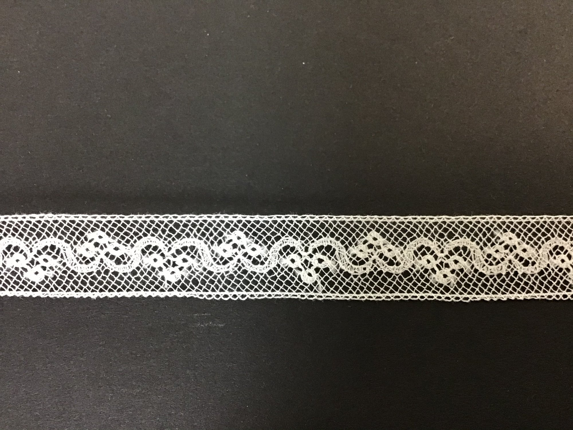 French Maline Lace Insertion .5 Inch White 200376-09