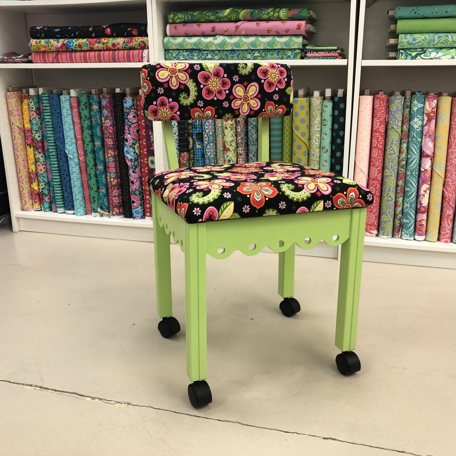 Arrow Green Sewing Chair
