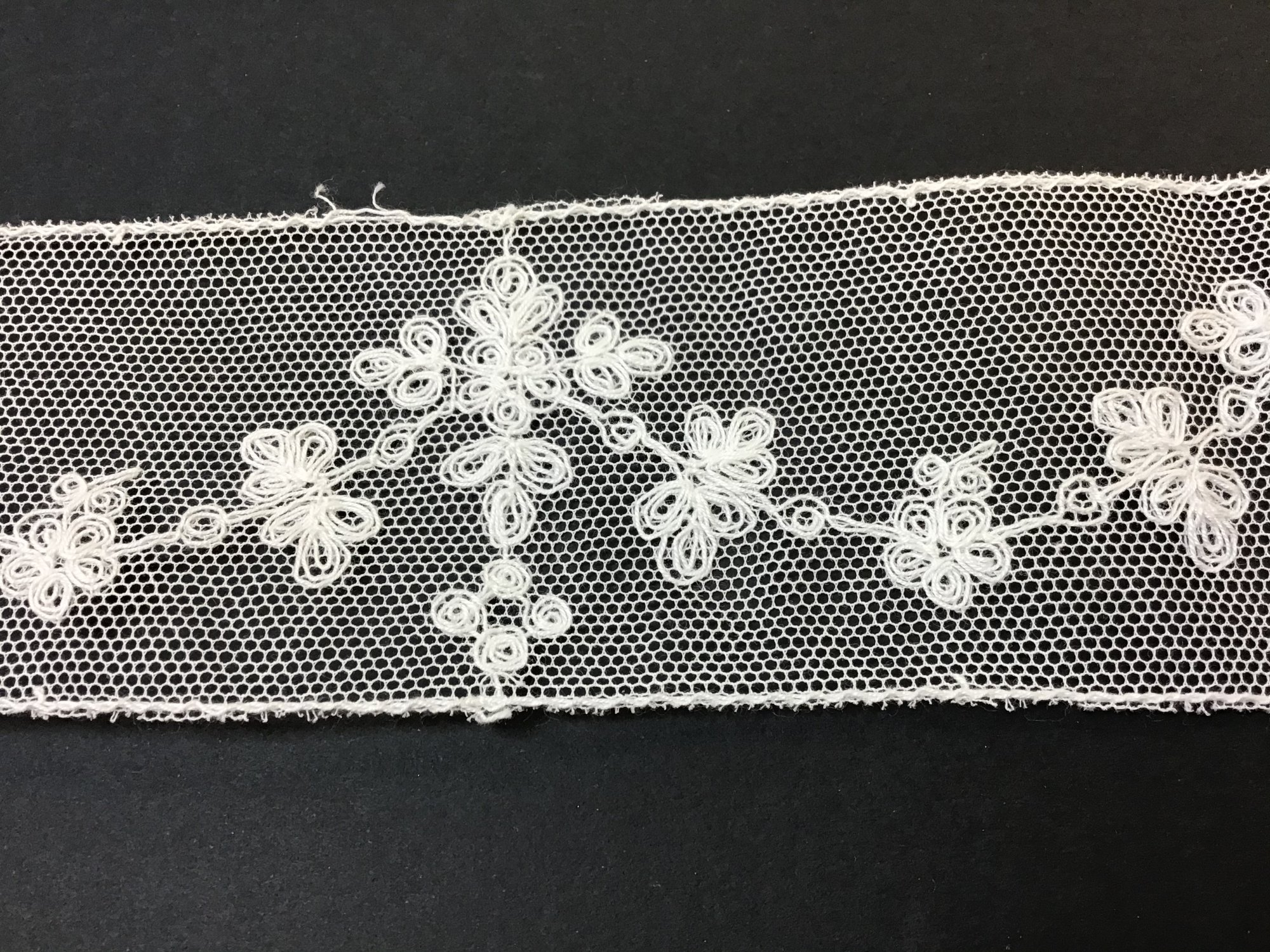 Netting Lace Insertion with Crosses 2 inch Soft White 1972