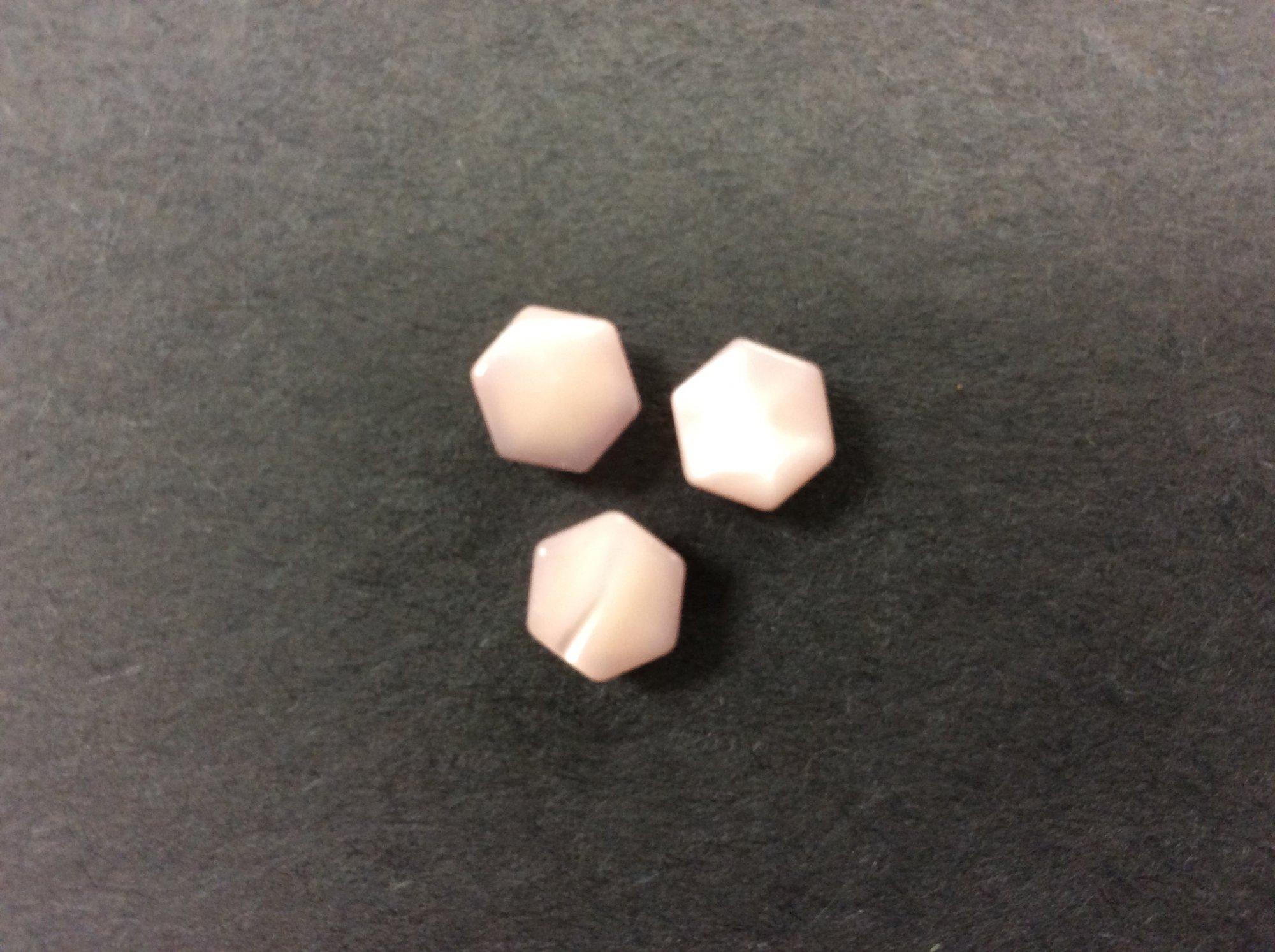 MOP Hexagon Shank from Wendy Schoen in Pink