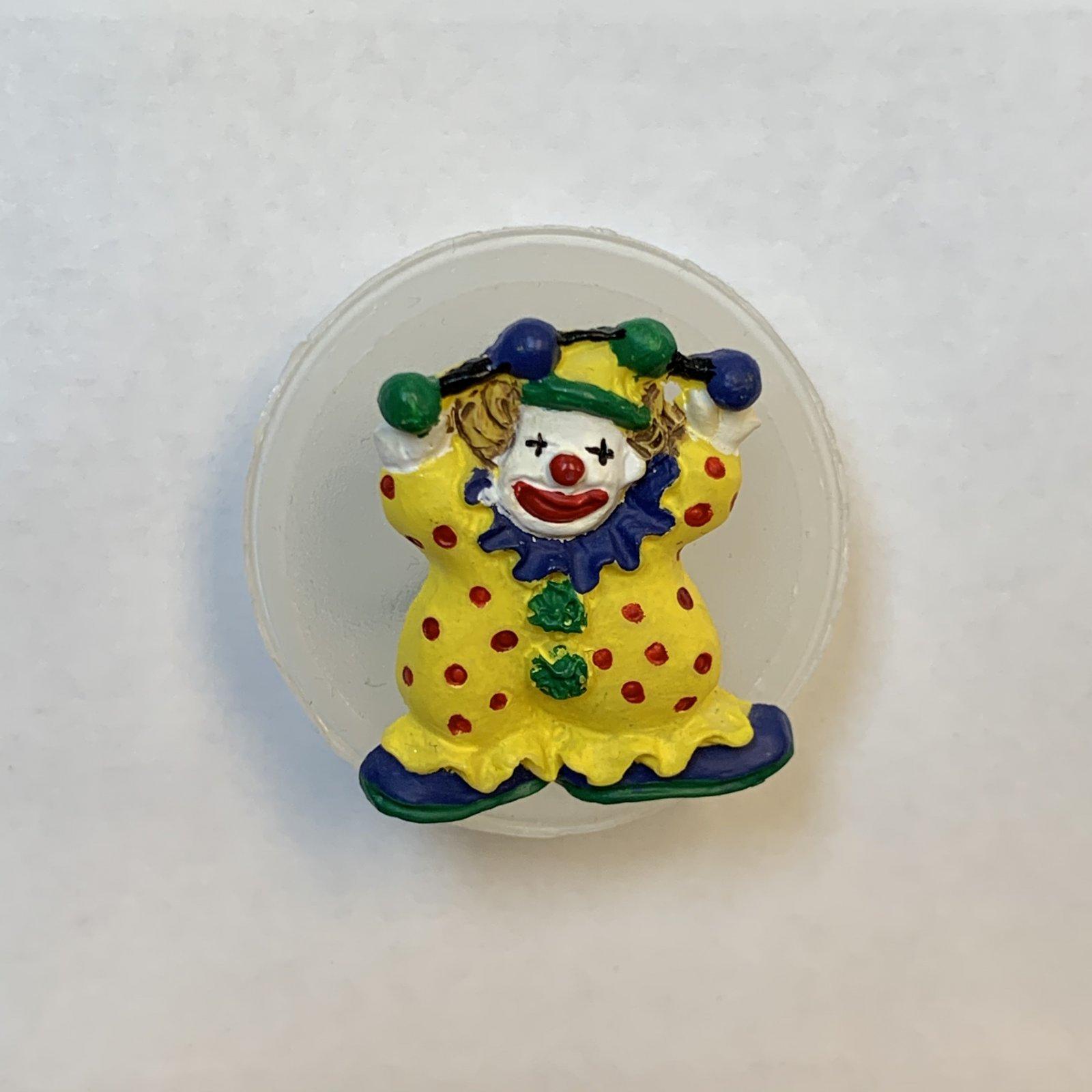 Circus Clown Button 7/8 Inch