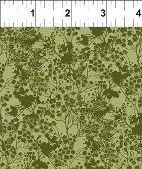 Garden Delights III 7GSG 3 Green Tonal Floral