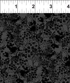 Garden Delights III 7GSG 6 Black Tonal Floral