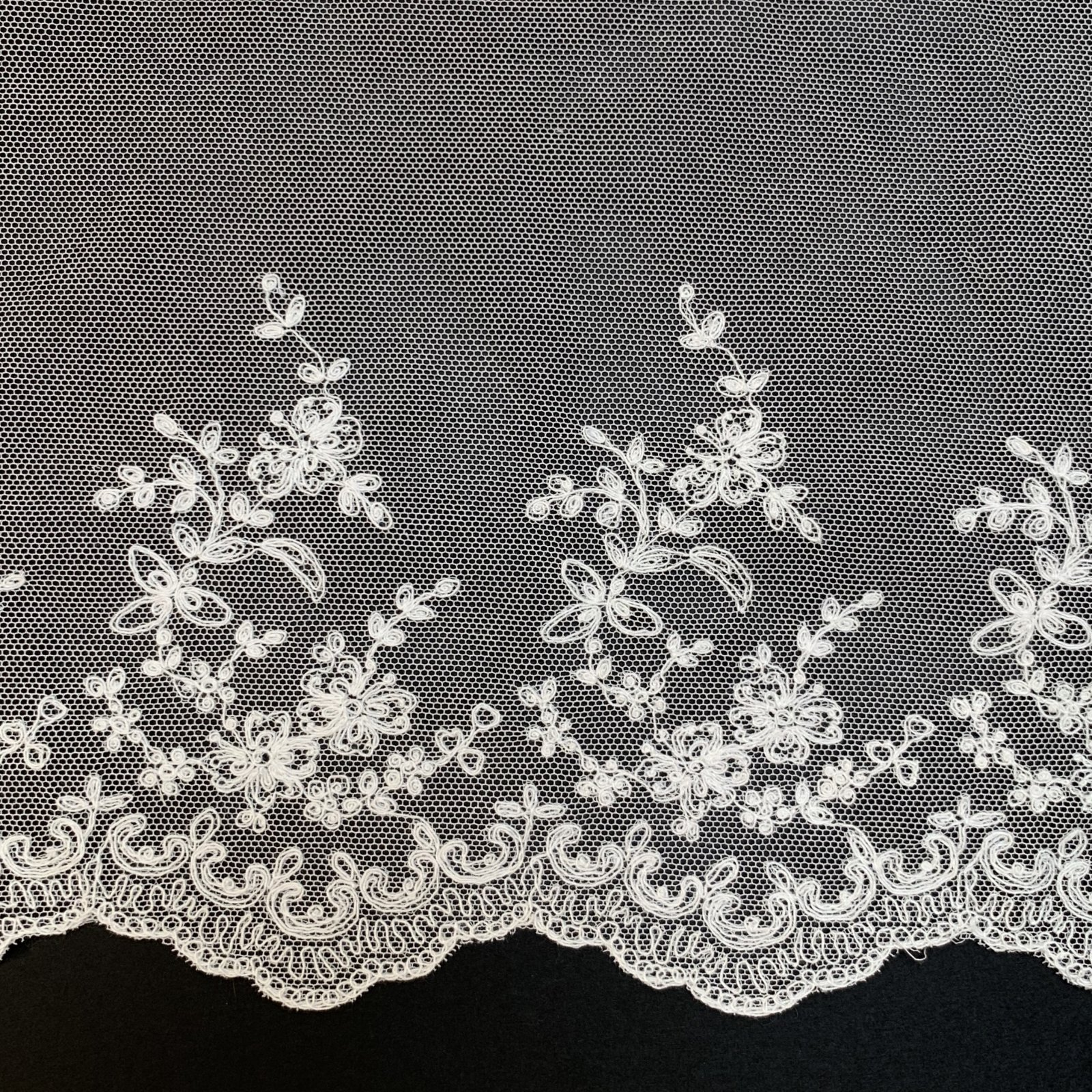 Netting Lace Edging 8 1/4 Inch Soft White 7027-8