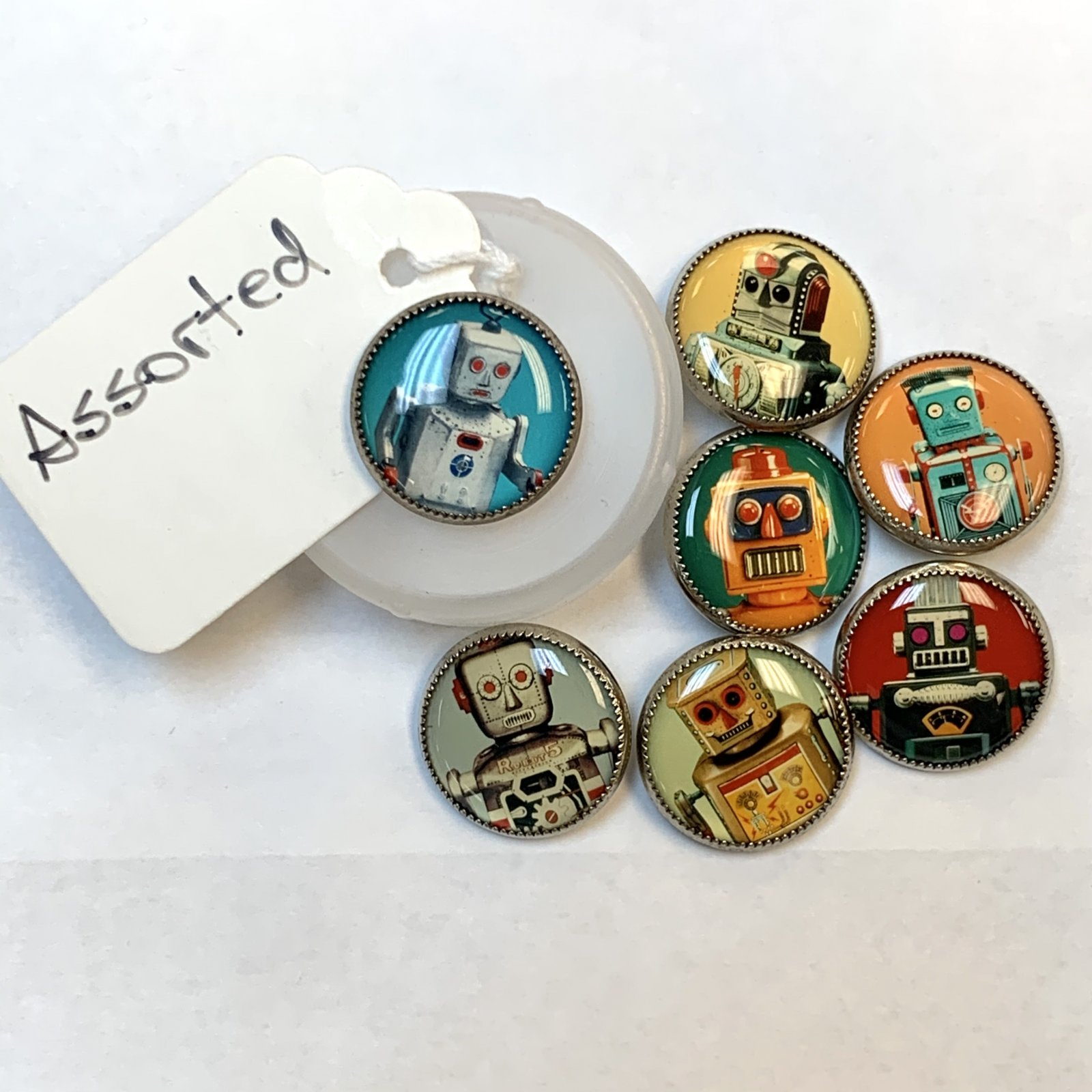 Robot Buttons 3/4 Inch Assorted