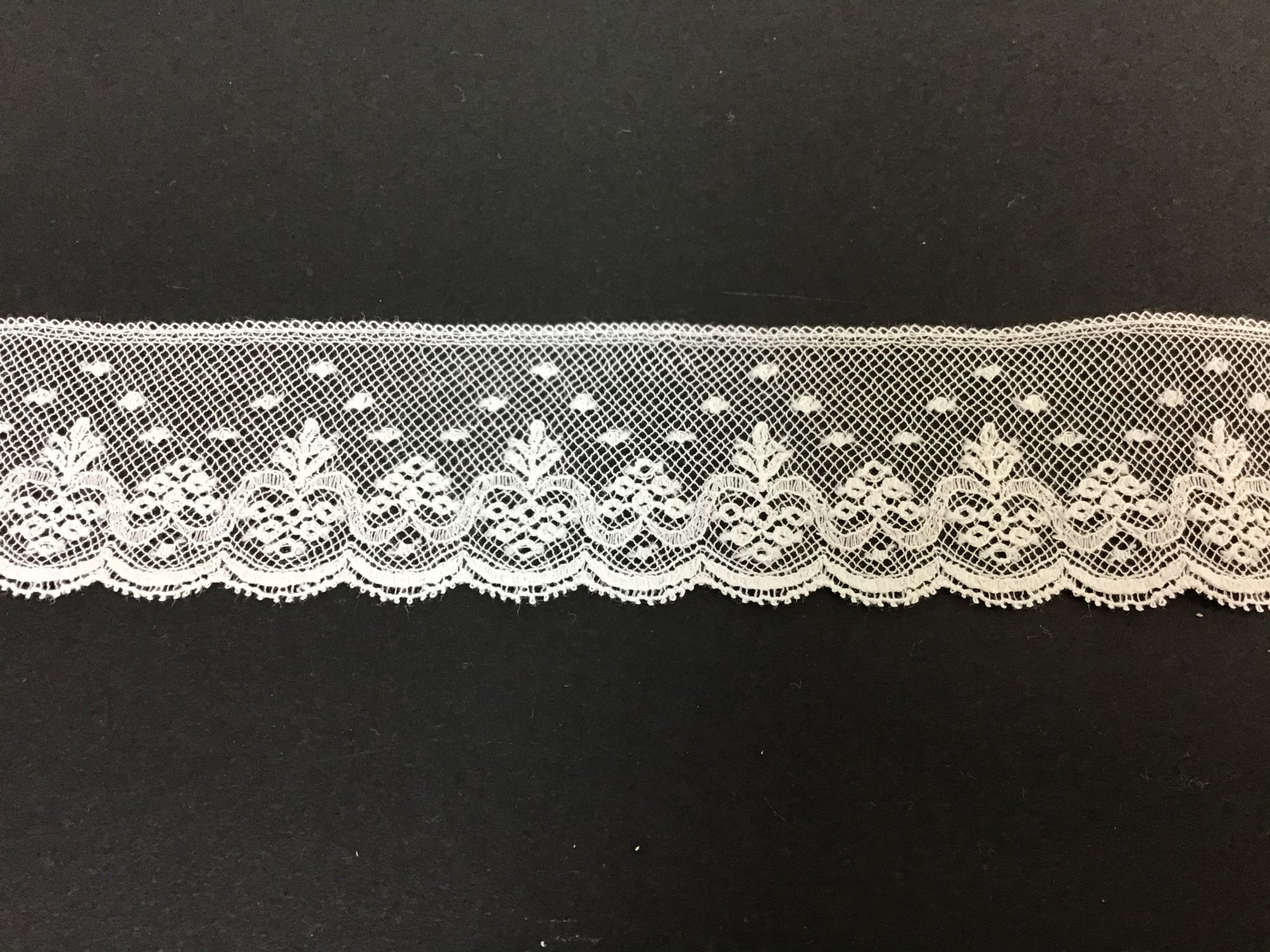 French Maline Lace Edging 1.25 Inch White 200374-09