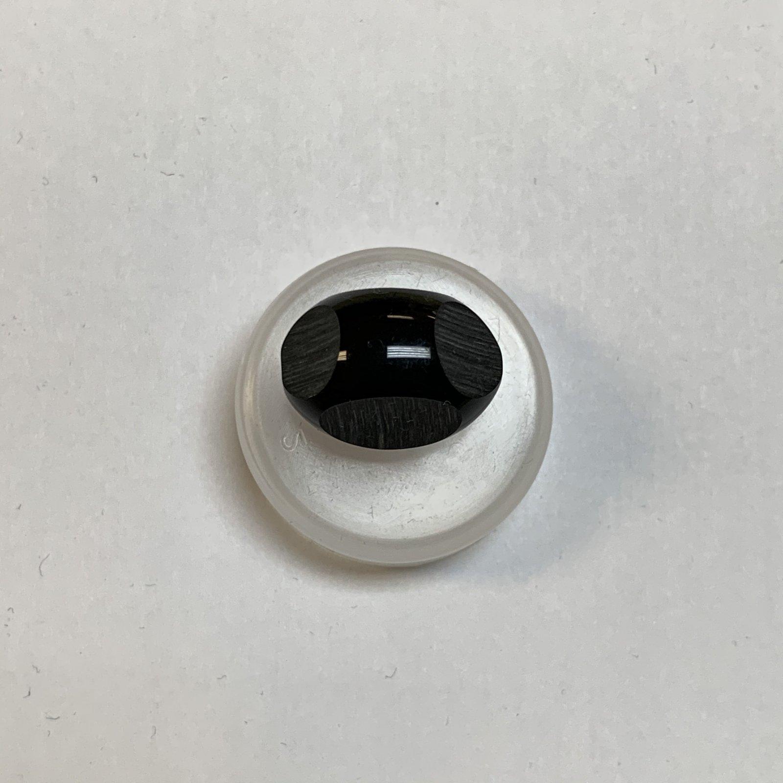 Vintage Black Brushed Egg Button 7/8 Inch