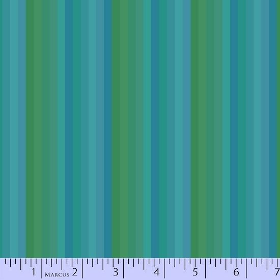 Getting to Know Hue Teal Stripe R15 9710 0120 Remnant 1/4 yard