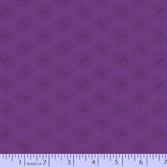 Getting to Know Hue Purple Fireworks R15 9714 0135 Remnant 1/3 yard