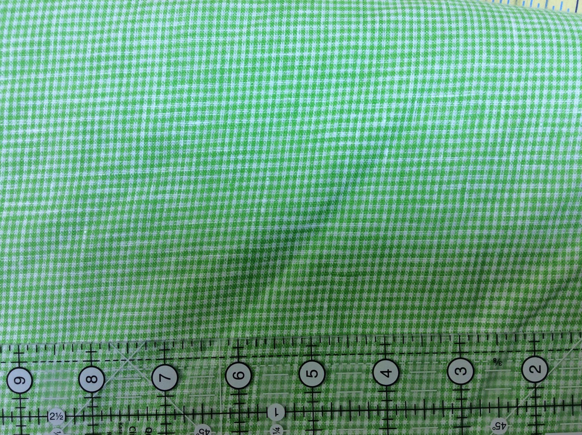 Lime Gingham Check Linen