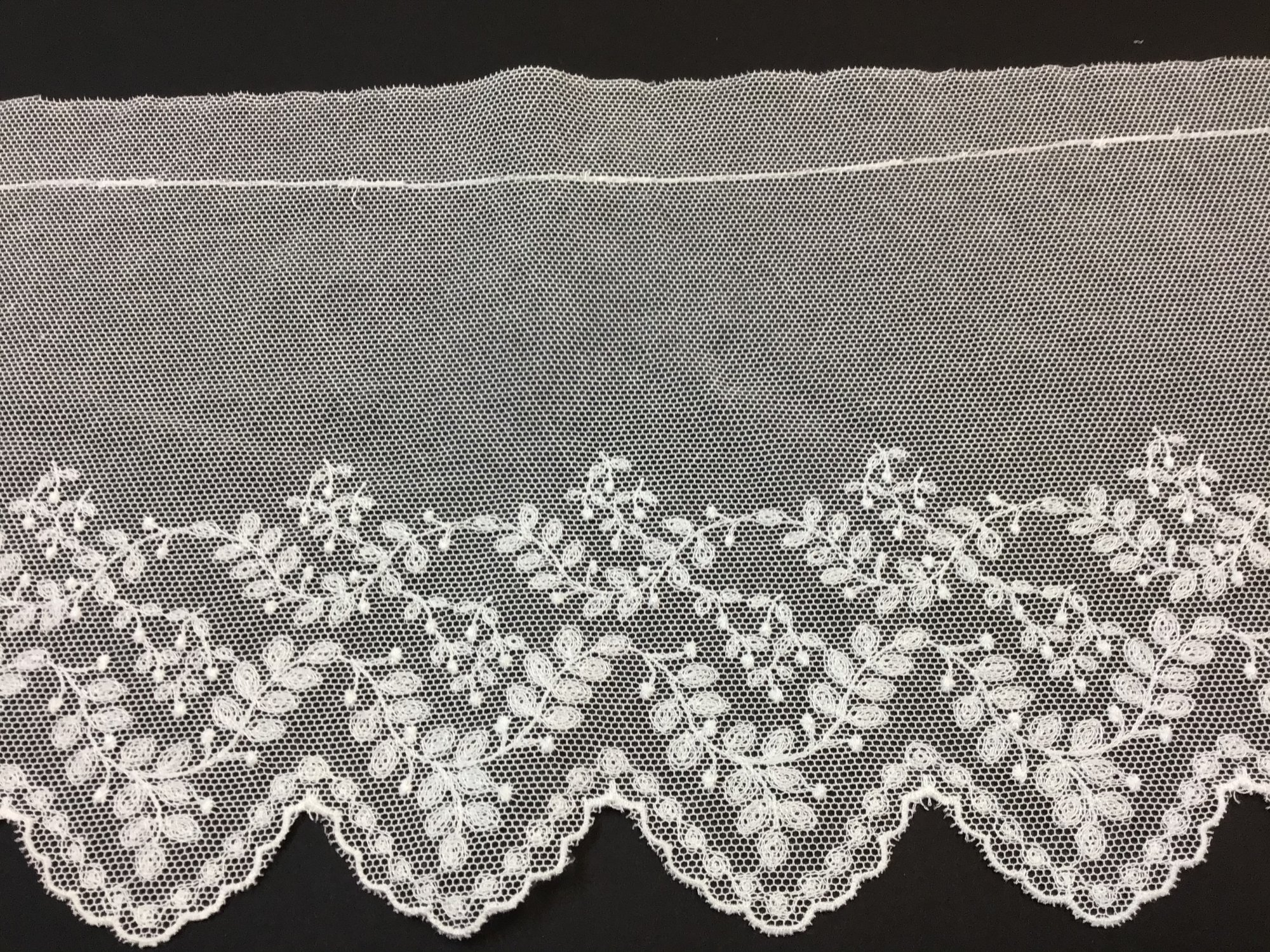 English Netting Lace Edging 6 Inches Soft White 4357W-D