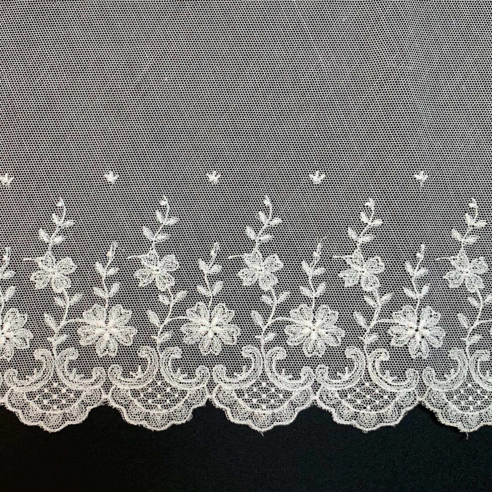 Netting Lace Edging 8 Inches Soft White 2667-8