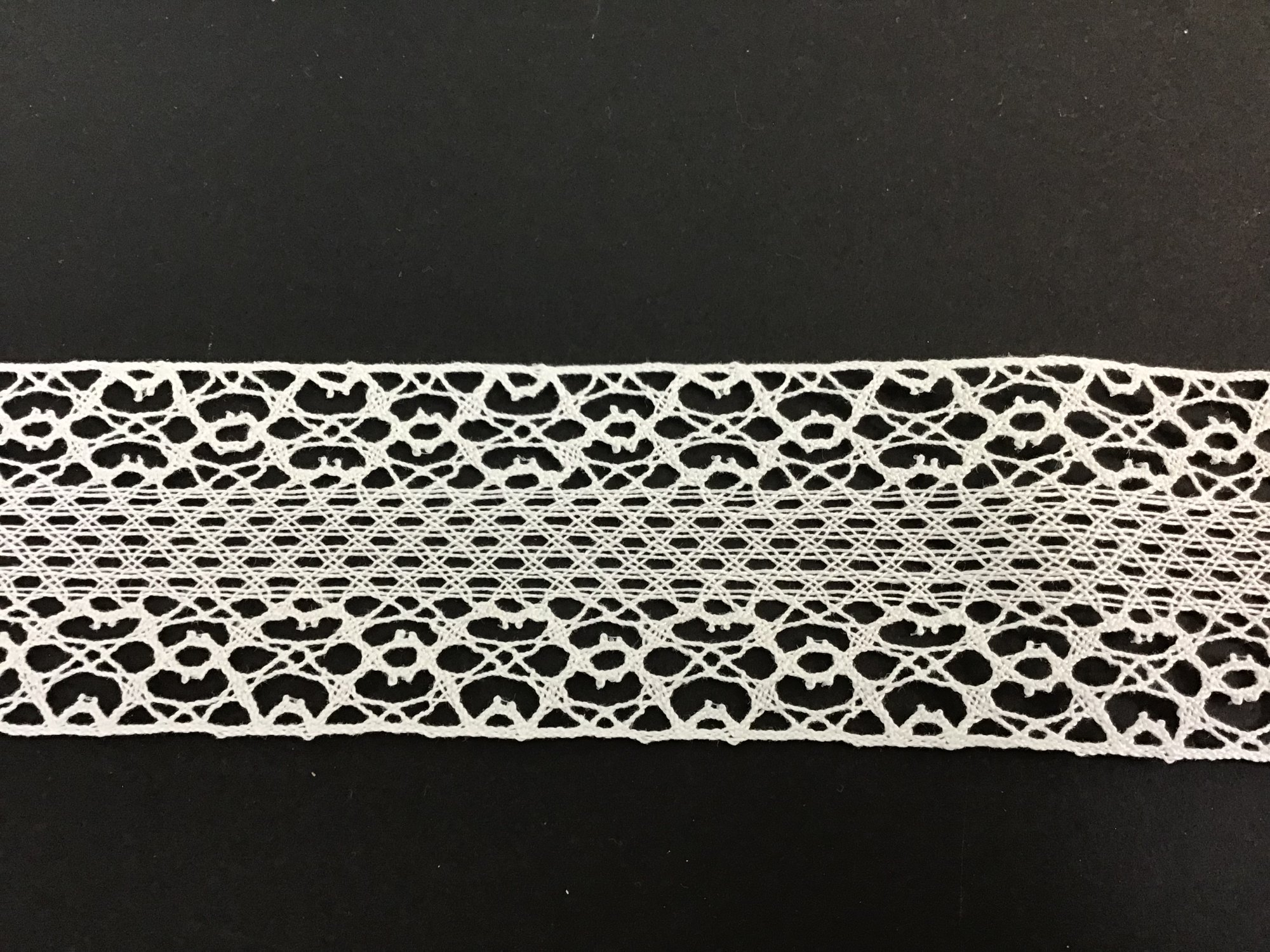 Spanish Cluney Lace Insertion 2 Inch White 37630-13