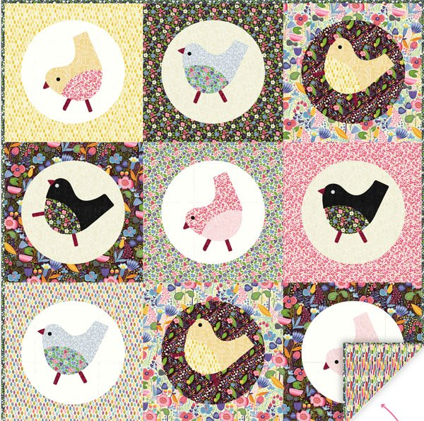 Birdie Big Blocks Quilt Kit