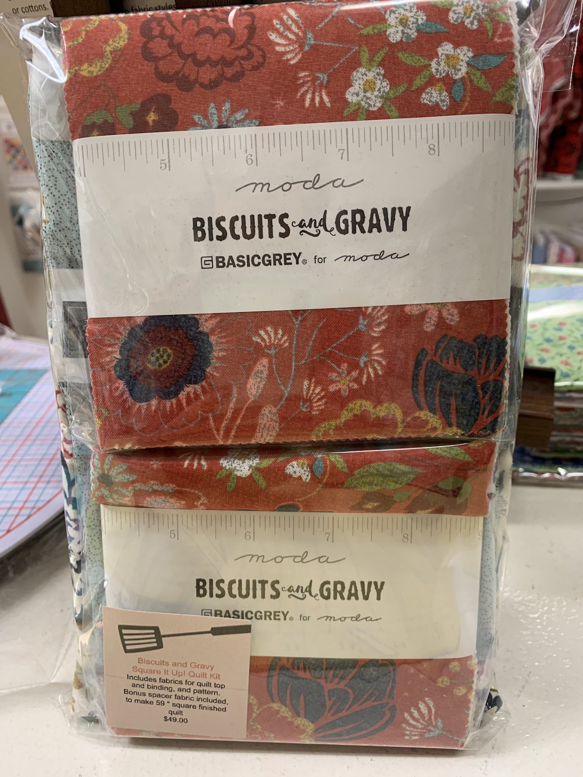 Biscuits and Gravy Square It Up Quilt Kit