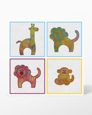 Zoo Animals Machine Embroidery Applique