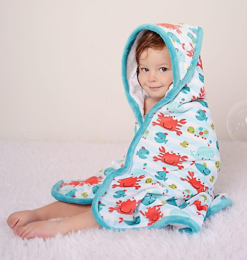 Cuddle and Terry Hooded Towel Kit