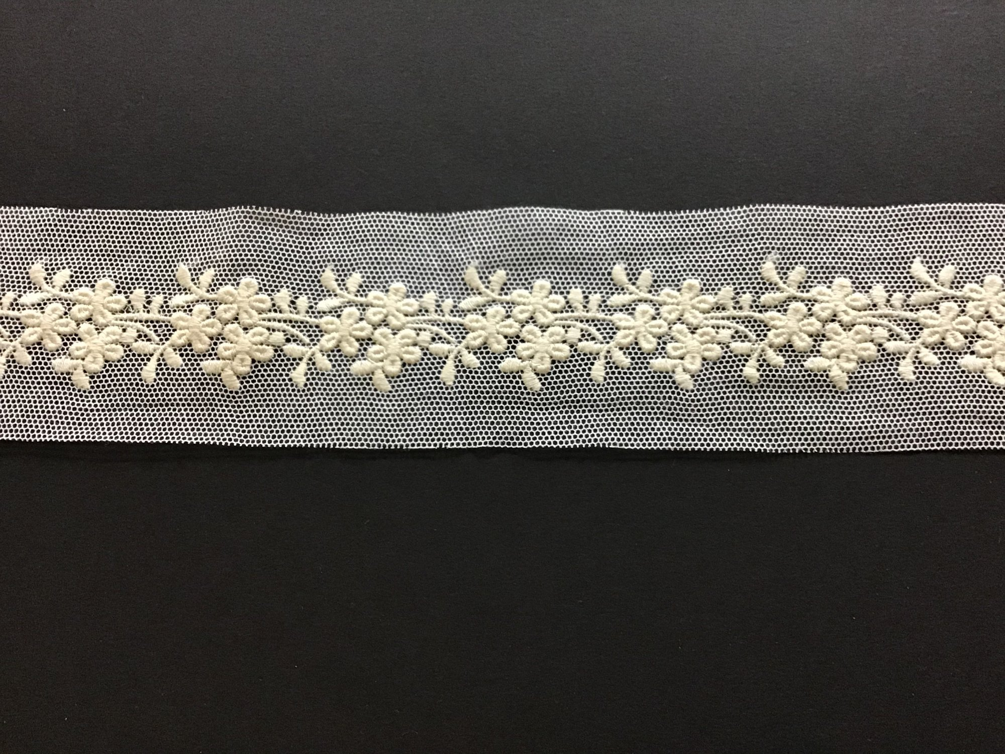 English Netting Lace Insertion 2 Inches Ecru on White 717757-C
