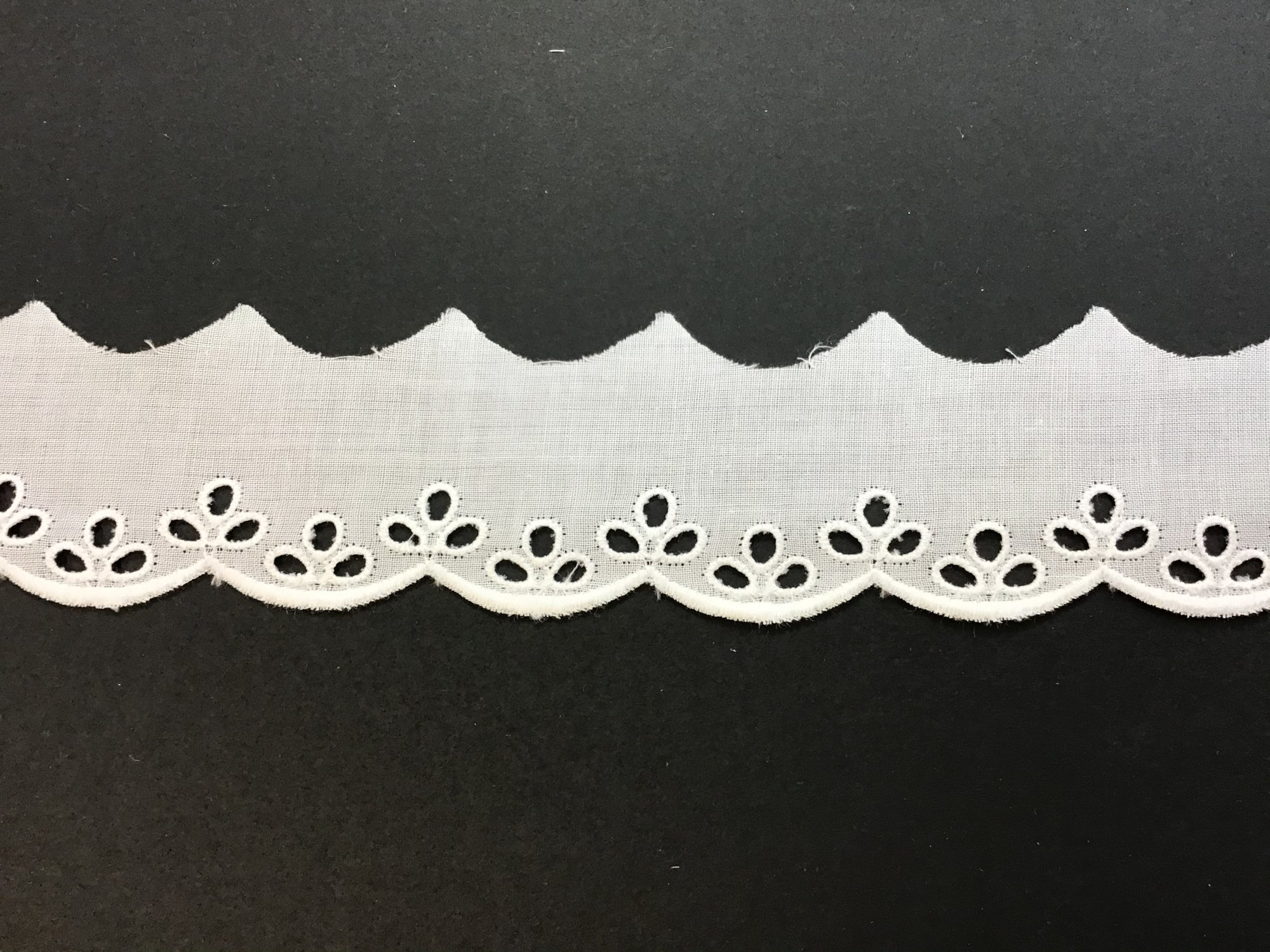 Swiss Embroidered Eyelet Edging 1.25 Inches White 70243-02