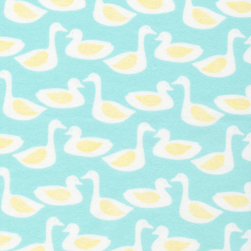 Cloud 9 Organic Cotton Turquoise Duck Flannel 1547 03