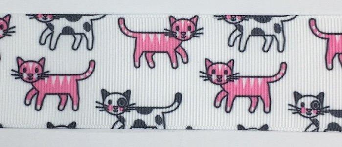 1.5 inch Pink Cats Grosgrain