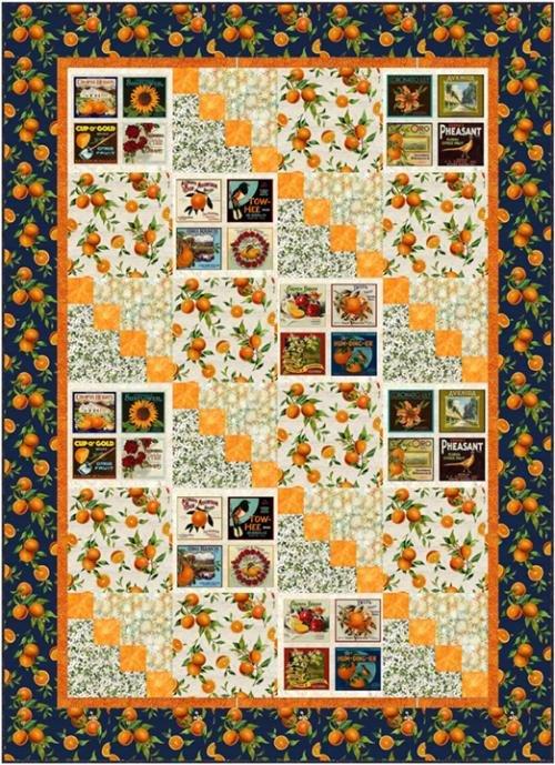 Orange Garden Orchard Bliss Quilt Kit