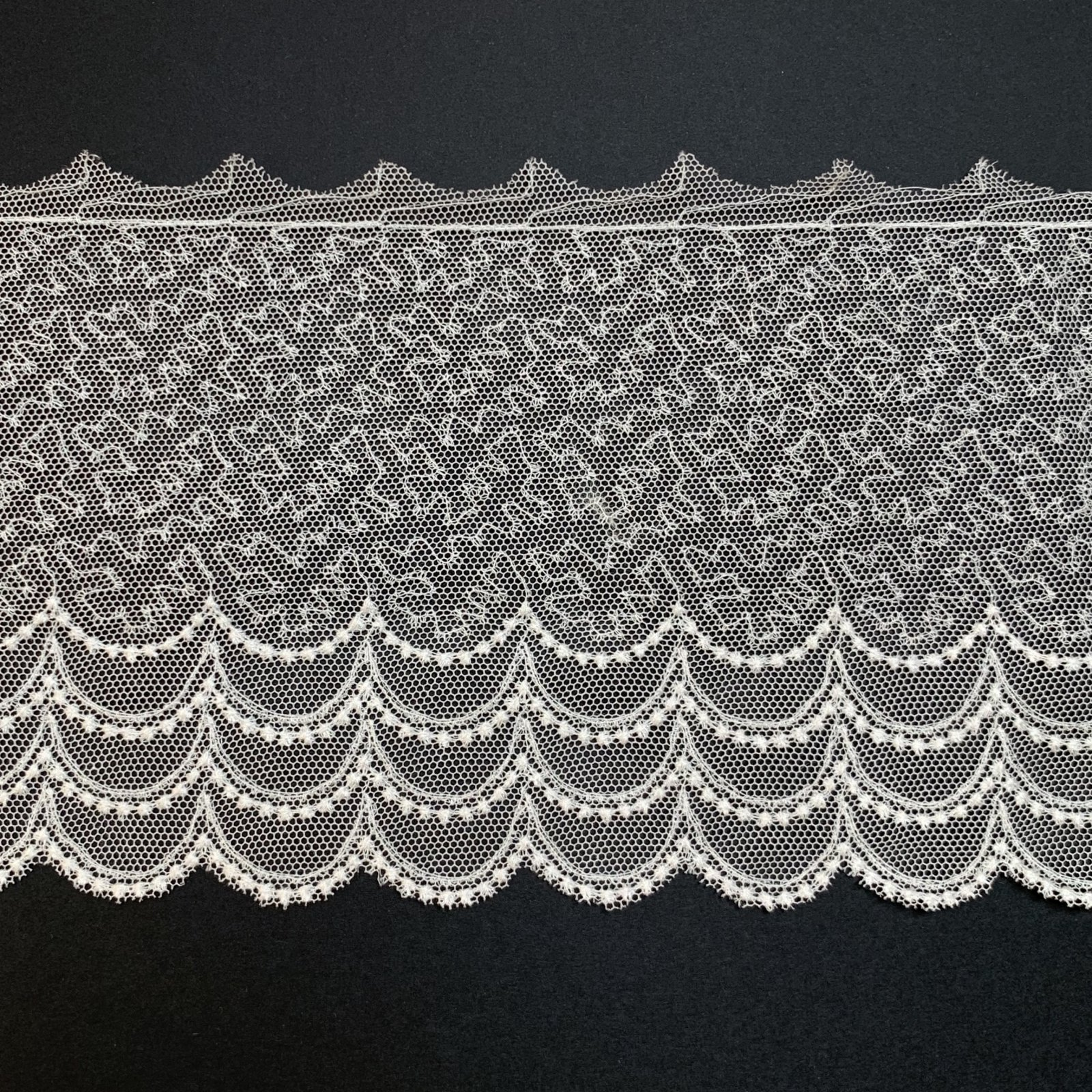 English Netting Lace Edging 4.5 Inches Soft White 431-D