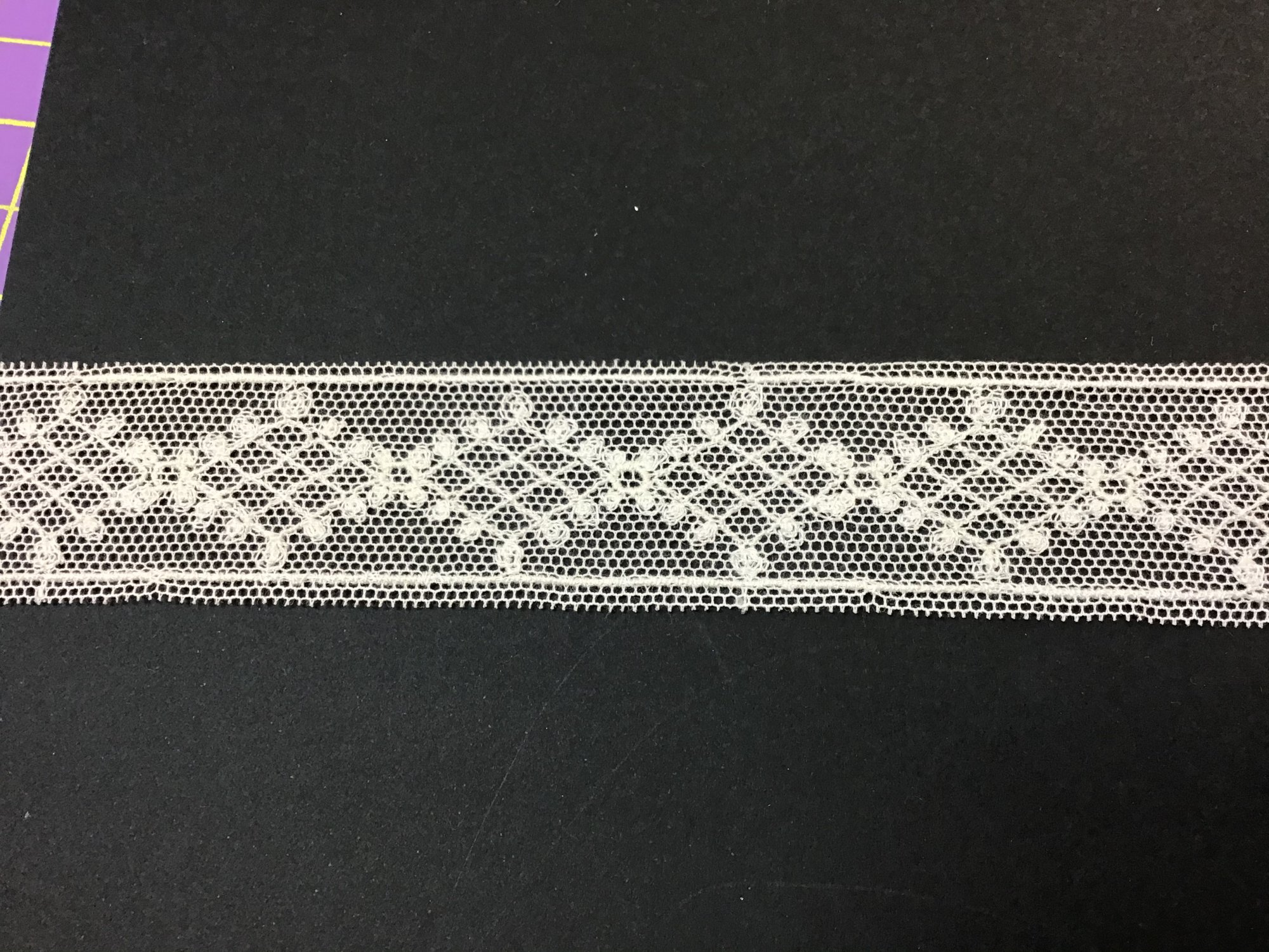 English Netting Lace Insertion 1inch Soft White NM9233-A