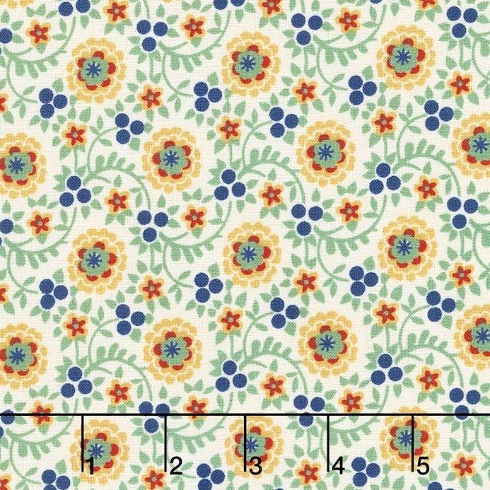 Chicken Scratch Green Flowers & Vines 98631 175