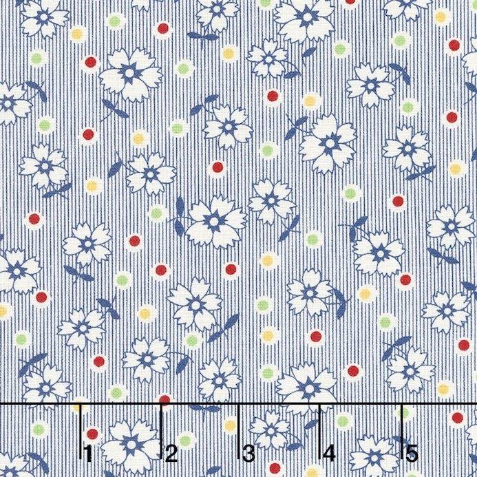 Chicken Scratch Blue Flowers & Dots 98633 143